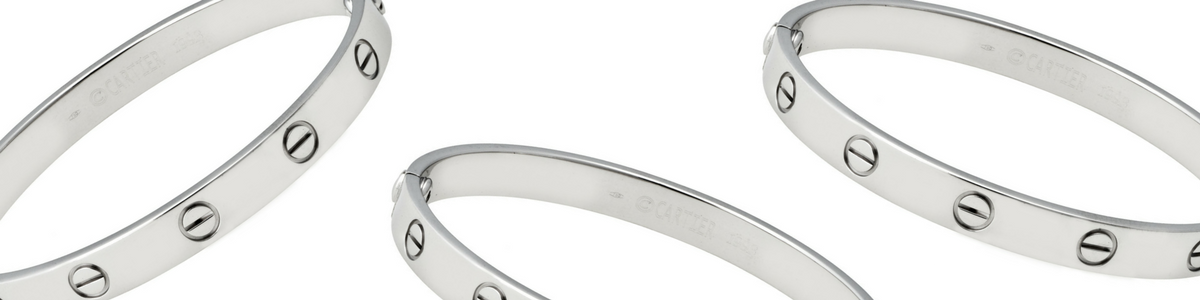 cartier white gold love bracelets