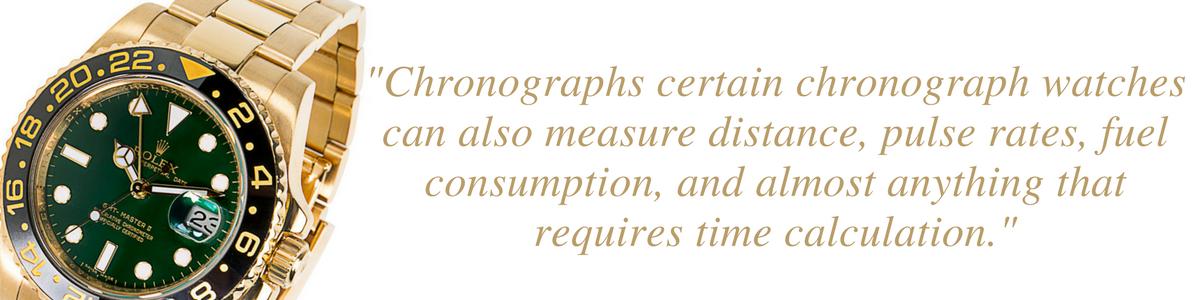 chronograph watch capabilities