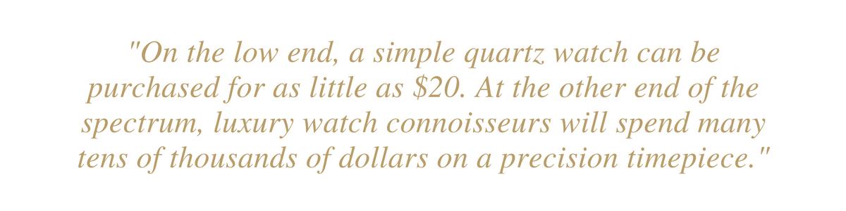 cost of luxury watch